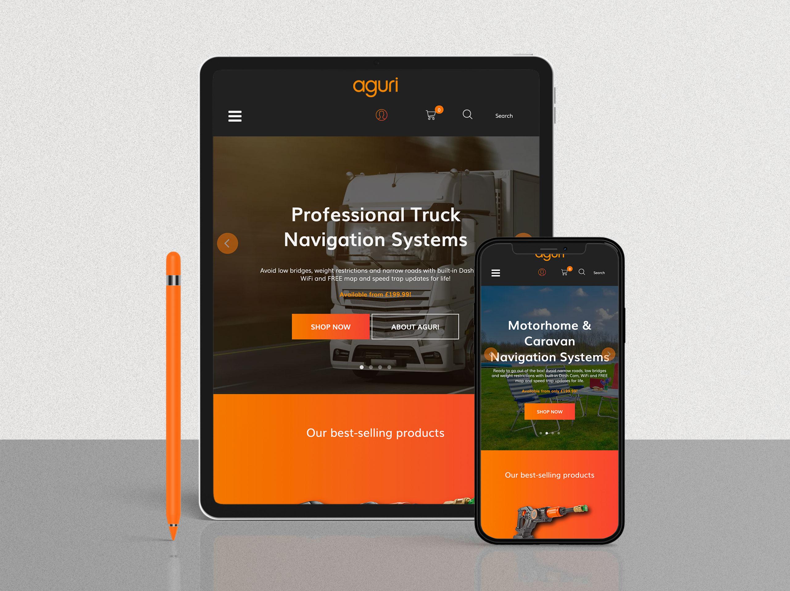 Aguri tablet and mobile visual