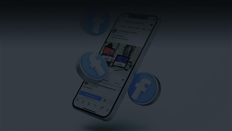 facebook logo on mobile