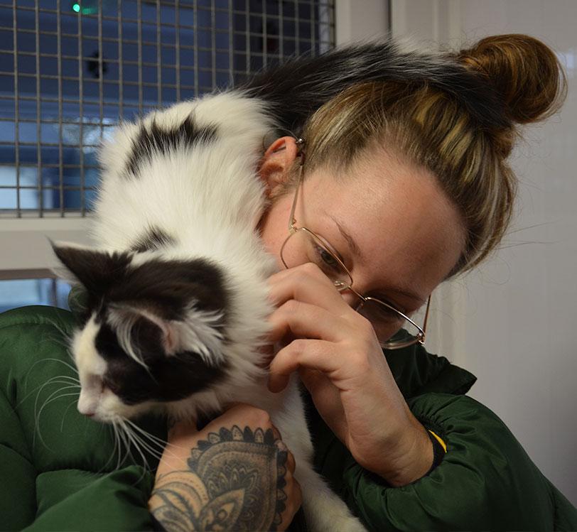 Lauren at Penine Pen Animal Rescue