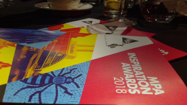 A picture of the programme guide for the MPA Awards 2018