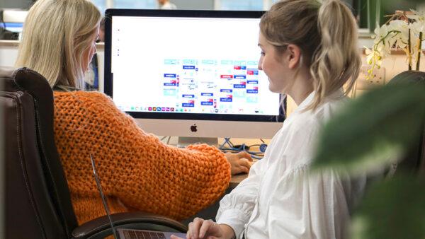 Nicola and Paige working together e1620740020857