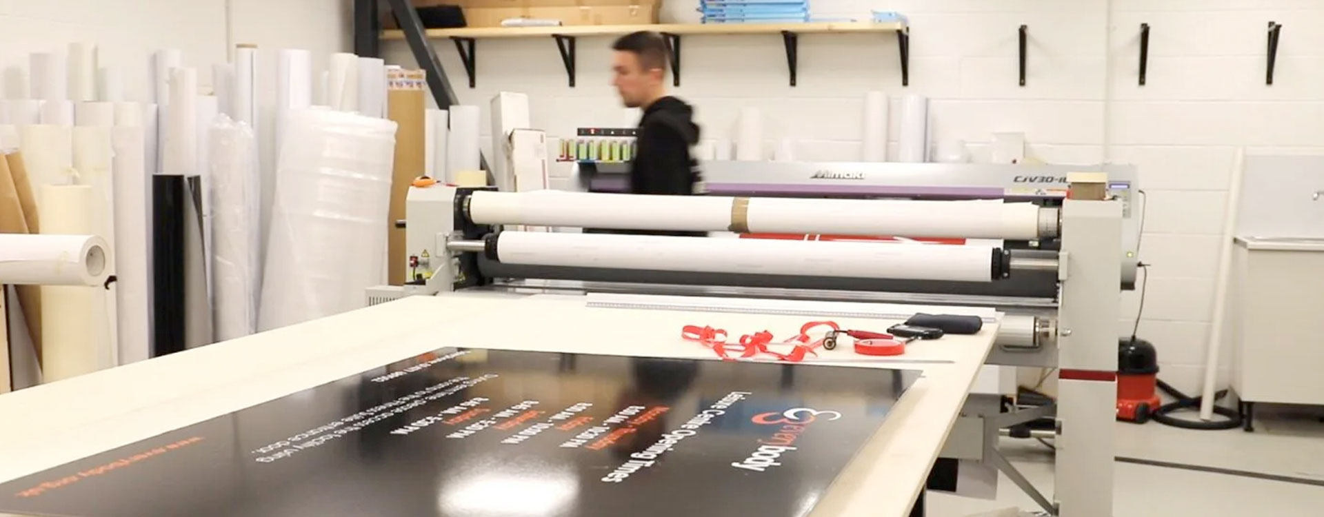 Wide format print department